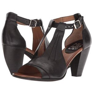 Miz Mooz Martha Black Peep Toe Sandals.10.5 EUR 41